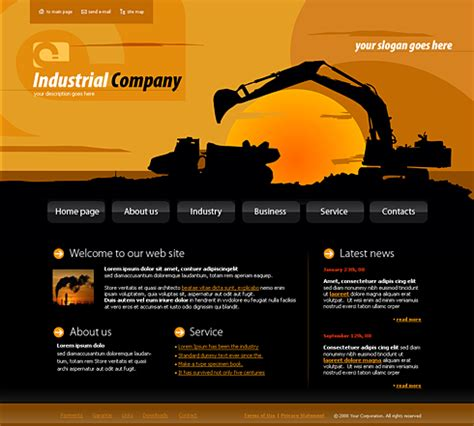 industrial template 4144 industrial history website templates