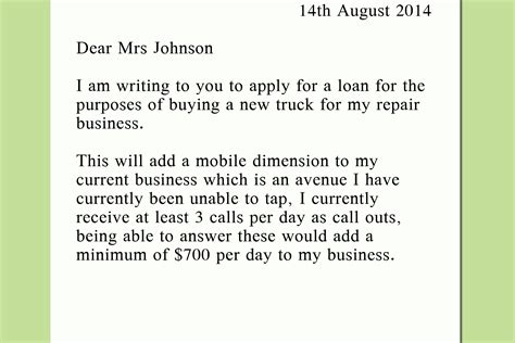 Letter To Bank Requesting Student Loan 4 Ways To Write A Letter To A Bank Asking For A Loan