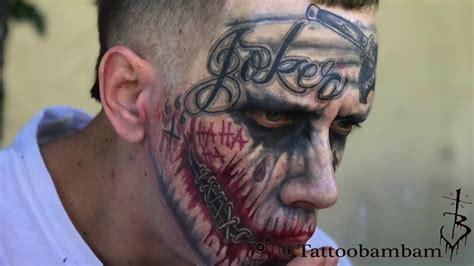 joker tattoo real the real miami joker tattoo transformation done by tattoo
