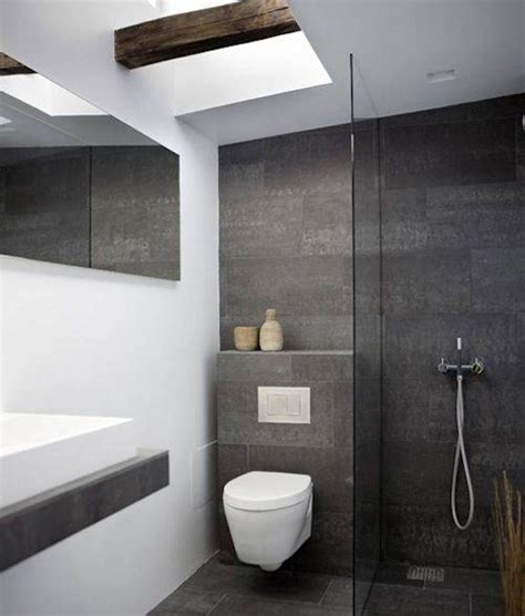 Amazing Bathroom Mirror Ideas On Wall #1: Small-Space-of-Grey-Bathroom-Ideas-Decorated-with-Simple-Floating-Vanity-under-Wall-Mirror.jpg