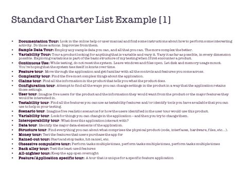 test charter template standardized risks charters in exploratory testing