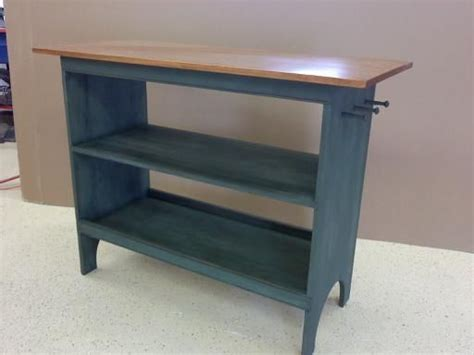 custom made shaker style kitchen island work table by