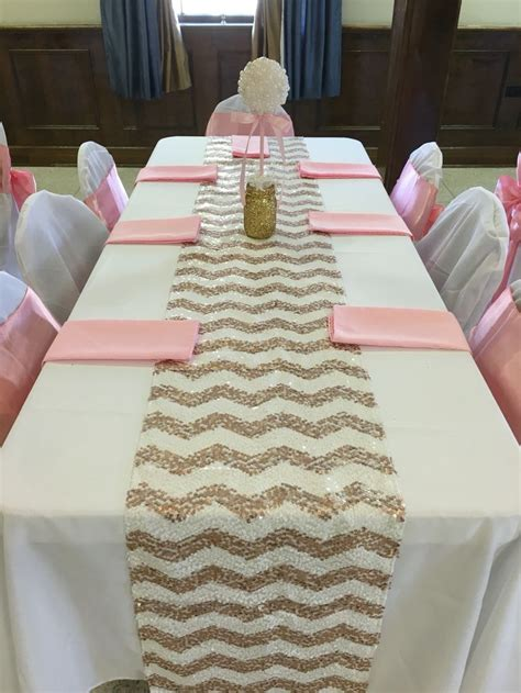 Pink And White Baby Shower Decorations by Pearl Table Centerpiece Pink Gold Glitter Pearls