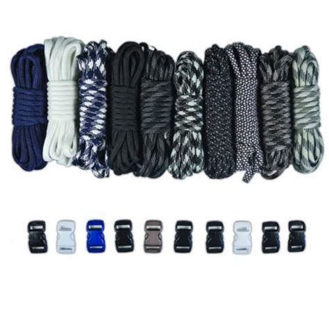 3 8 Color Mini Buckle Paracord mlb yankees combo kit paracord buckles