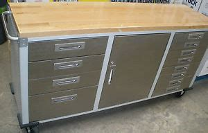 snap on work bench 6 stainless steel on rolling workbench top toolbox w snap shut drawers layaway ebay