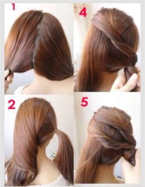 quick work hairstyles for thin hair pretty hairstyle quick and super easy trusper