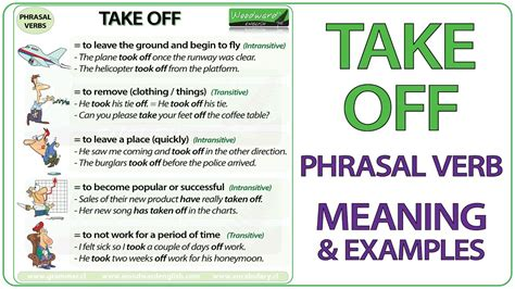 60 useful phrasal verbs with take with meaning and take off phrasal verb meaning exles in english