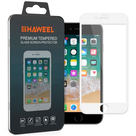 white tempered glass screen protector apple iphone 8 plus