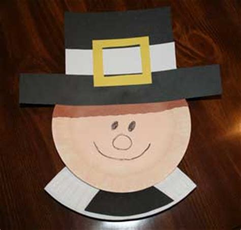 Pilgrim Paper Plate Craft - top 10 thanksgiving pilgrim crafts for preschoolers