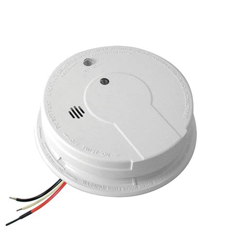smoke detectors in bedrooms code kidde code one hardwired 120 volt inter connectable smoke detector with battery backup