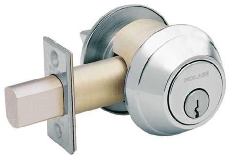 Deadlock Door Knob by Schlage Deadlock Door Locks By Builderdepot Inc