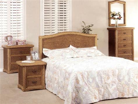 malacca rattan  wicker bedroom set