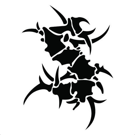 tribal tattoo logo sepultura band tribal metal logo sticker decal high