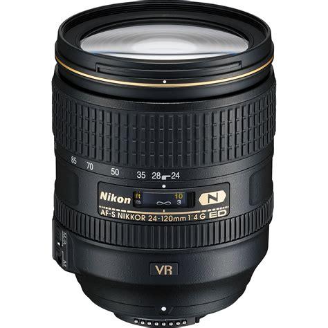 nikon af s nikkor 24 120mm f 4g ed vr lens 2193 b h photo