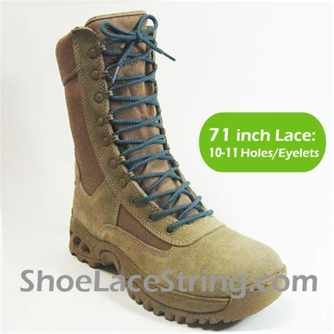 gray light blue 71in work combat boots laces 1pair