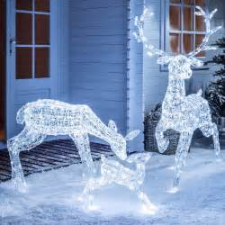 light up led sparkly christmas reindeer indoor outdoor