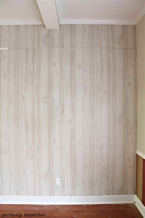how to whitewash wood panel walls faux wood wall panels