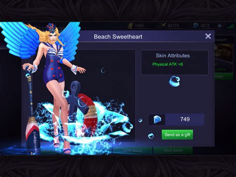 Skin Franco Special Mobile Legends jual sweetheart special skin freya mobile