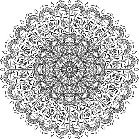 free clipart of a black and white adult coloring page