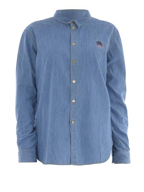Denim Washed Shirt washed denim shirt by kenzo shirts shop