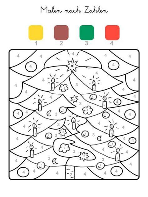 weihnachtsbaum zum ausmalen kostenlose malvorlage malen nach zahlen weihnachtsbaum