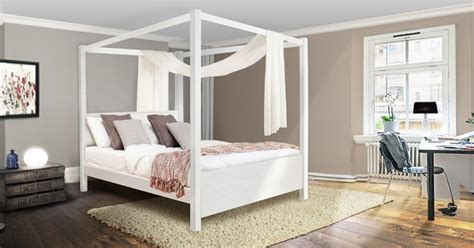 White Four Poster Bed by Four Poster Beds Get Laid Beds
