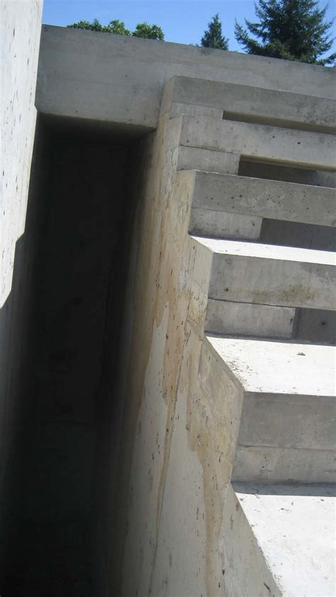 Exterior Concrete Cantilevered Stair Frontal cantilevered concrete stair formwork overall formwork inspirations concrete