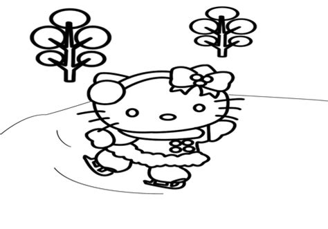 hello kitty winter coloring sheets fun pages grig3 org