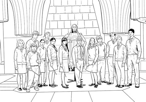 harry potter coloring pages gryffindor 8 images of hogwarts castle coloring page black and
