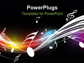 musical powerpoint templates powerpoint template symbols floating on