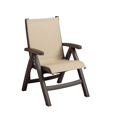 grosfillex chairs khaki grosfillex belize midback folding sling chair with bronze mist frame call for special