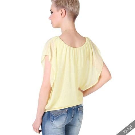 Nazane Plain Cape Blouse Size L womens oversized chiffon mesh batwing 2 in 1 necklace vest cape top blouse ebay