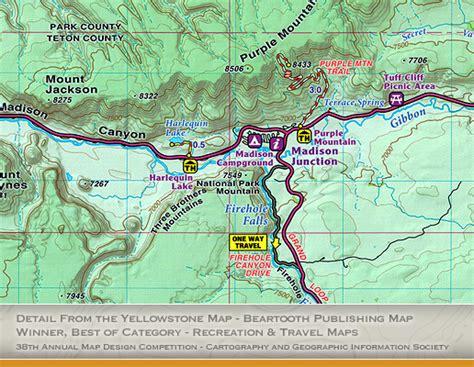 map of yellowstone yellowstone maps trail guides