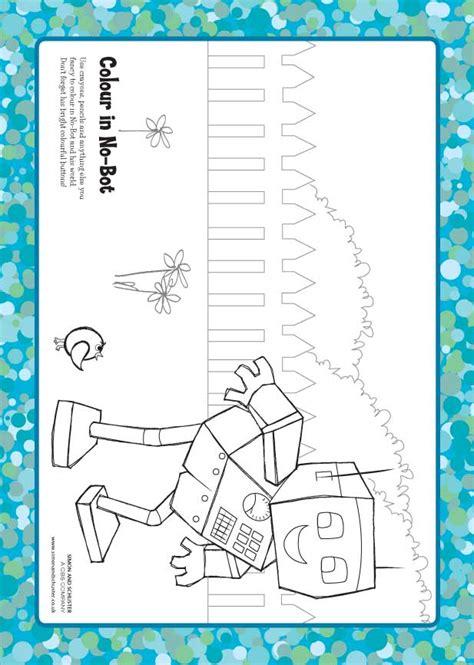 coloring book wrong no bot the robot colouring scholastic club