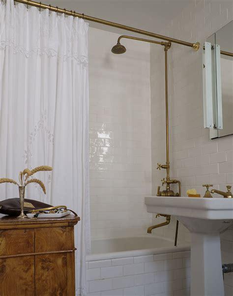 Shower Exposed Plumbing Design Decor Photos Pictures