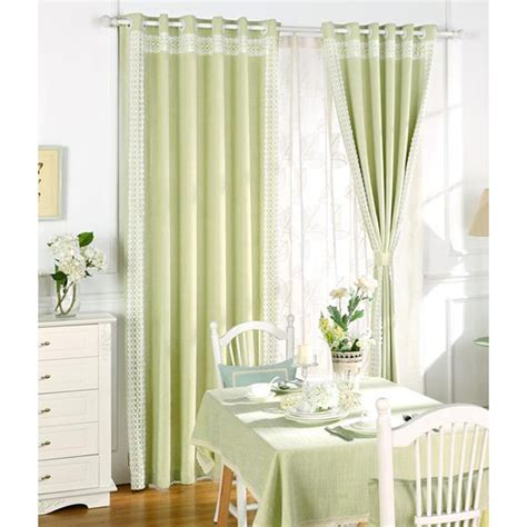 Lime Green Living Room Curtains Lime Green Jacquard Poly Cotton Blend Modern Living Room