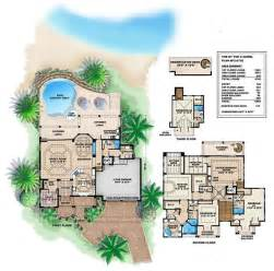 Tropical island house plans caribbean house design style 4 bedrooms 5
