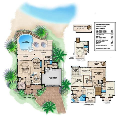 island home plans caribbean house design style 4 bedrooms 5 baths luxury