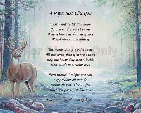 what christmas giftfor my son the hunter papa gift grandfather personalized poem birthday or crafts