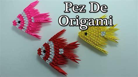 origami 3d fish como realizar un pez con tecnica 3d origami fish