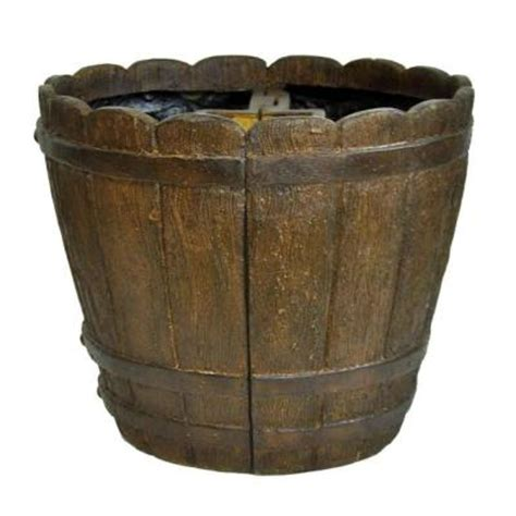 Home Depot Barrel Planter by Mpg 18 In Dia Cast Mailbox Planter In Barrel