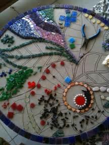 mosaik vorlagen tisch landhaus mosaiktisch selber machen anleitung mit
