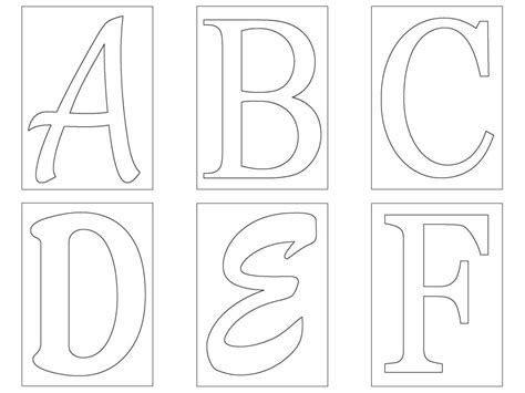 The Gallery For Gt Free Stencil Letters To Print And Cut Out Letter Templates Printable