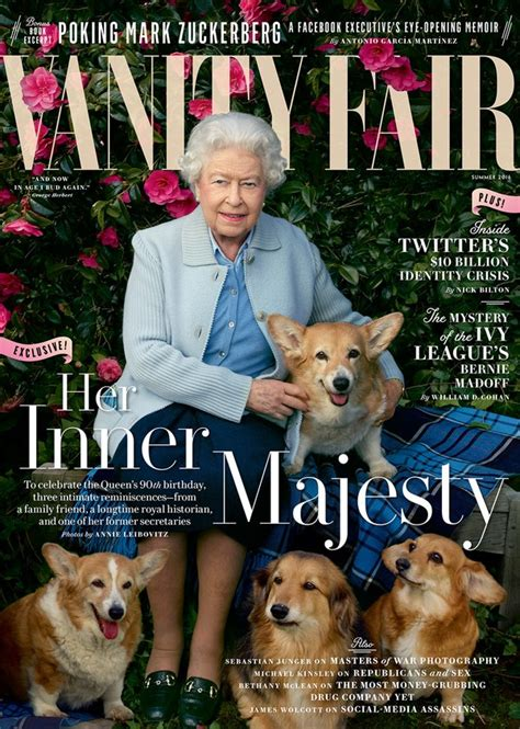 queen elizabeth s dog queen elizabeth s dogs steal the show on vanity fair cover