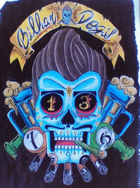 mexican art tattoos mexican greaser skull