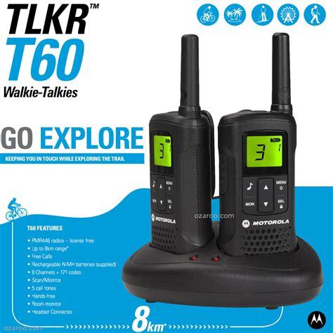 motorola talker tlkr t60 2 way walkie talkie 8km pmr 446