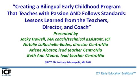 Bilingual Childhood Essay by Creating A Bilingual Early Childhood Program