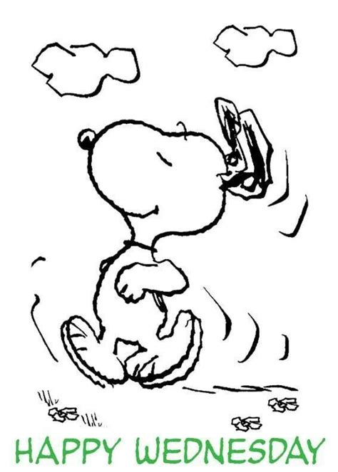 snoopy happy wednesday dance peanuts gang pinterest