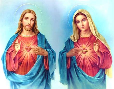 imagenes de jesus y la virgen maria juntos apostolado caballero de la inmaculada novena en honor y