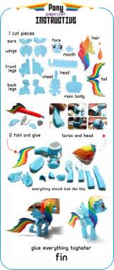 Rainbow Dash Papercraft - pony papercraft by kna on deviantart
